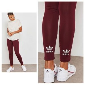 Adidas Trefoil Purple/BuegundyLeggings